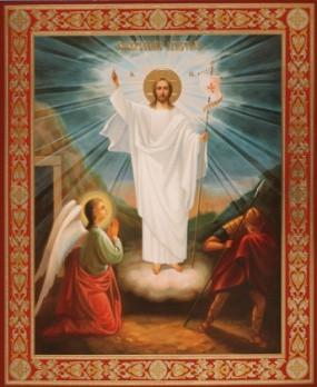 jesus-stands-victorious-outside-tomb-hardboard-18x24_grande